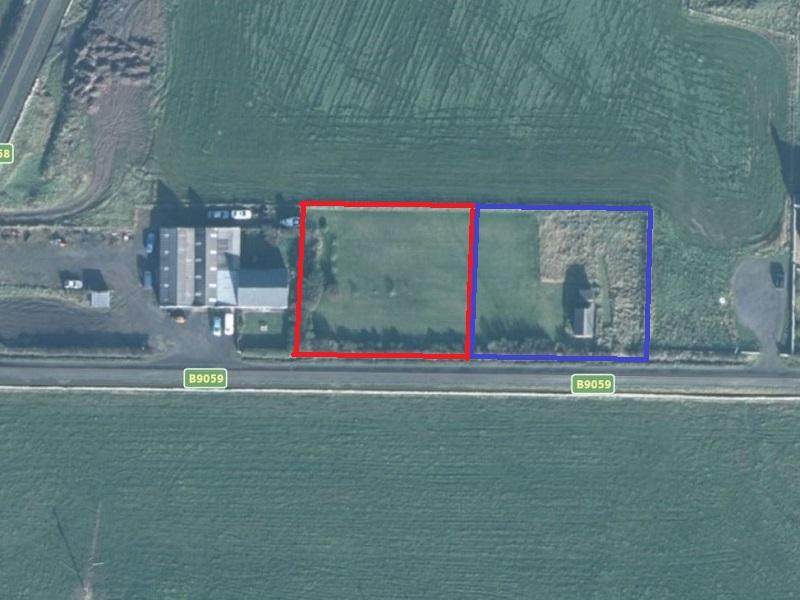 Ariel view -Red plot 1, Blue plot 2