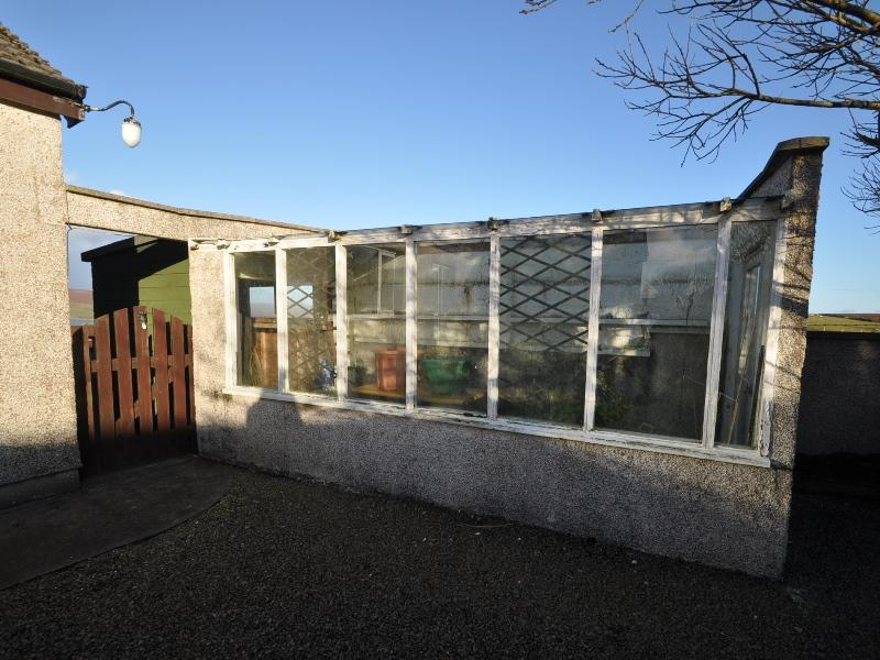 Greenhouse with connected garden shed