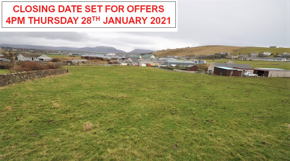 1.25 acres or thereby development ground, Off Cairston Road, Stromness, KW16 3JS
